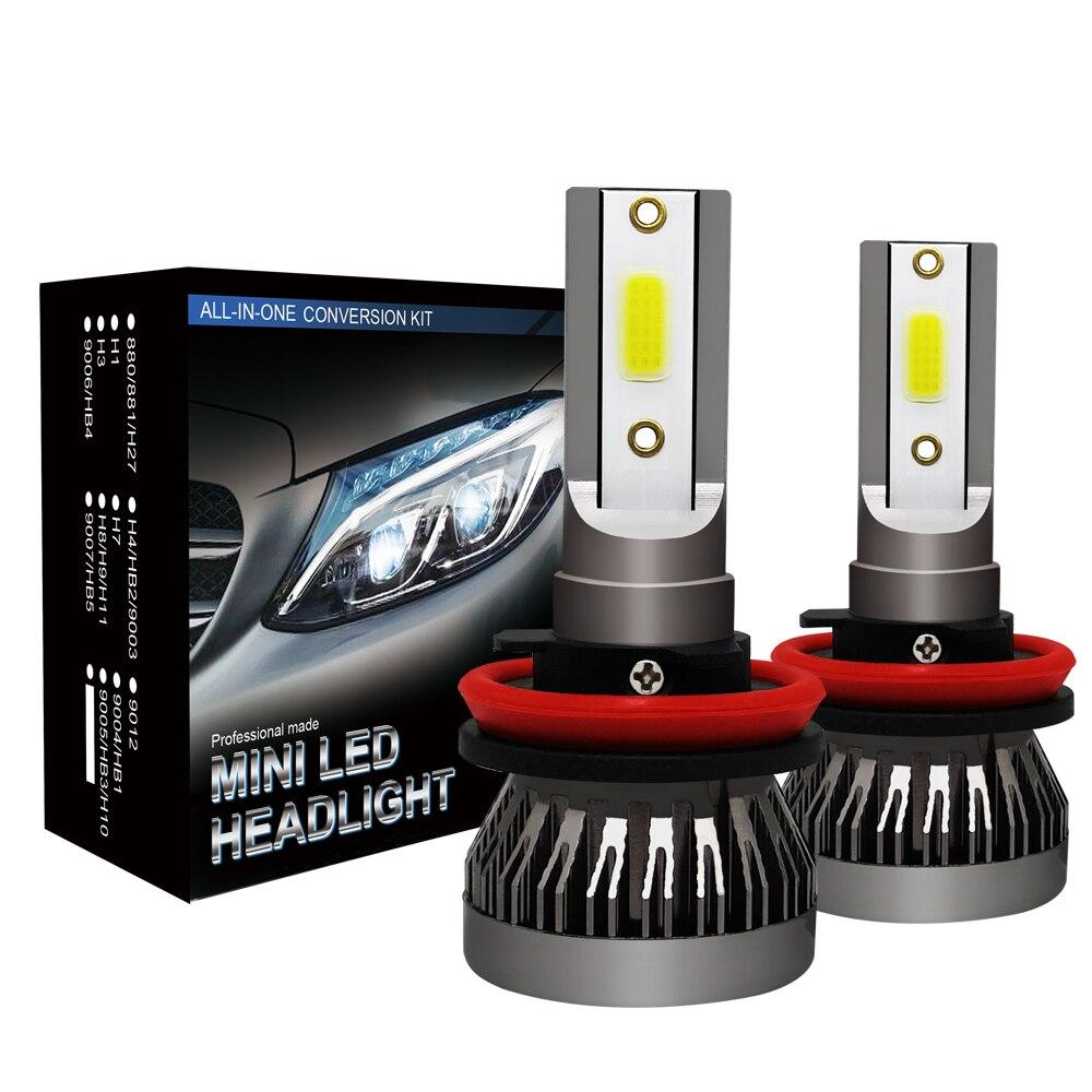 [해외]2PCS H7 LED 미니 자동차 헤드 라이트 전구 H1 LED H7 H8 H9 H11 12000LM 전조등 키트 9005 HB3 9006 HB4 자동 9V 12V 24V LED 램프/2PCS H7 LED 미니 자동차 헤드 라이트 전구 H1 L