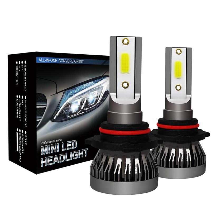 [해외]2019 새로운 2 pcs h7 led 12000lm/쌍 미니 자동차 헤드 라이트 전구 h1 led h7 h8 h9 h11 헤드 램프 키트 9005 hb3 9006 hb4 자동 led 램프/2019 새로운 2 pcs h7 led 12000lm/