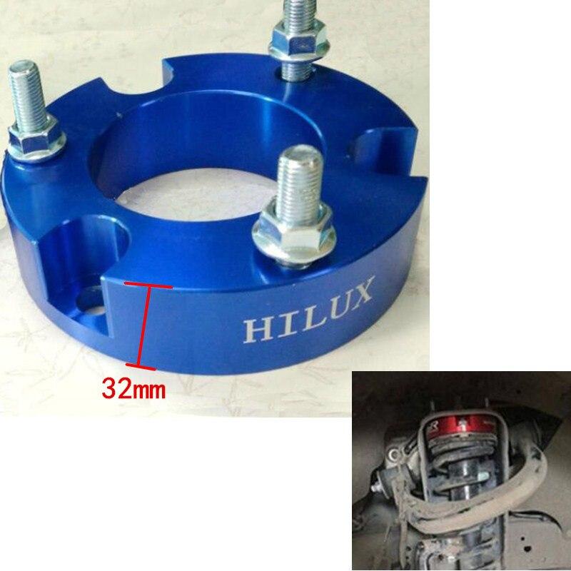 2pcs 32mm 프론트 리프트 스페이서 vigo Shock spacer For Toyota Hilux VIGO REVO 코일 스프링 스페이서 리프트 키트 hilux parts 4x4 offorad/2pcs 32mm 프론트 리프트 스페이서 vi