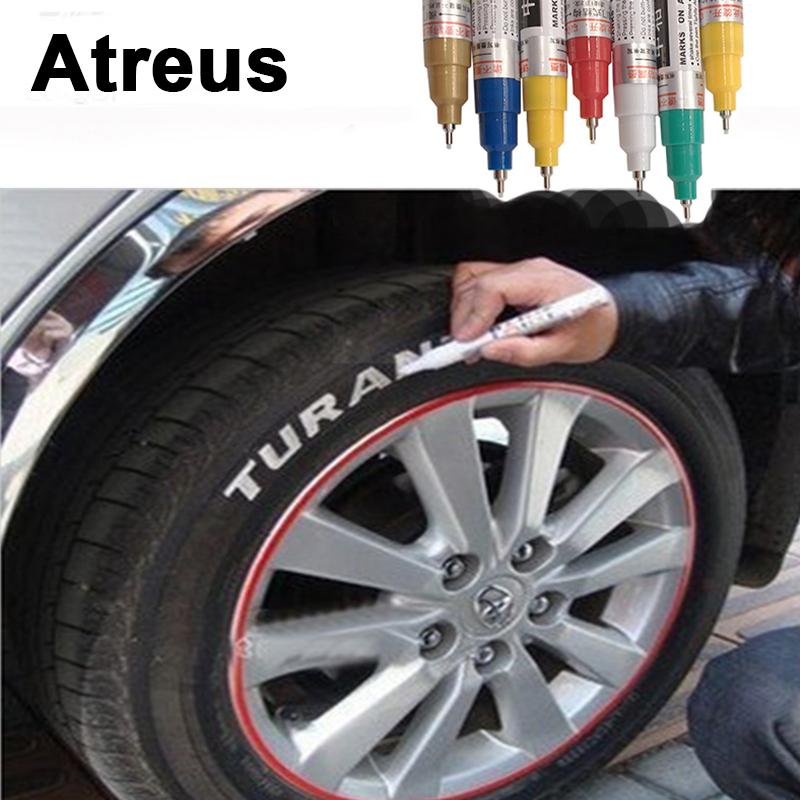 [해외]Atreus 영원한 자동차 타이어는 메르세데스 벤츠에 대한 그림판 마크 데칼 펜을 밟았습니다 W204 W203 W211 AMG 미니 쿠퍼 Skoda octavia a5/Atreus Permanent Car Tyre Tread Depict Paint Mark De