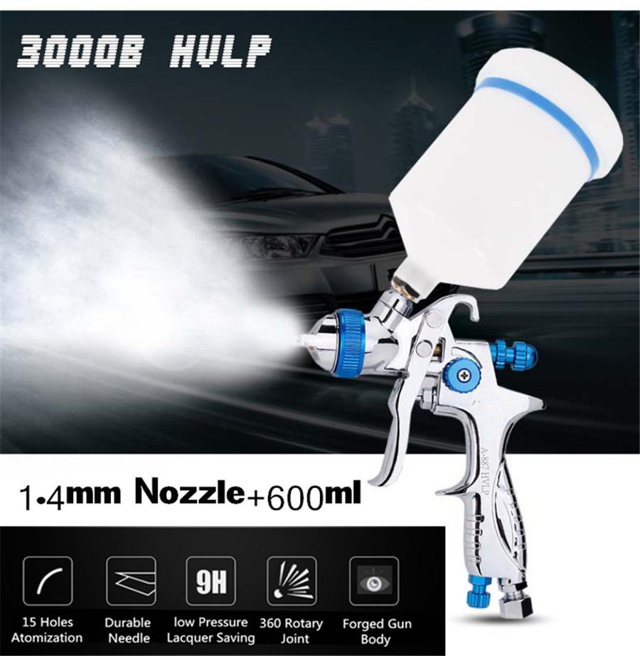 [해외]1.4mm 노즐 600cc 전문 저압 중력 급지 페인트 스프레이 건 에어 브러쉬 자동차 마감 도장 용 도장 도구/1.4mm Nozzle 600cc Professional Low Pressure Gravity Feed Paint Spray Gun Airbrush