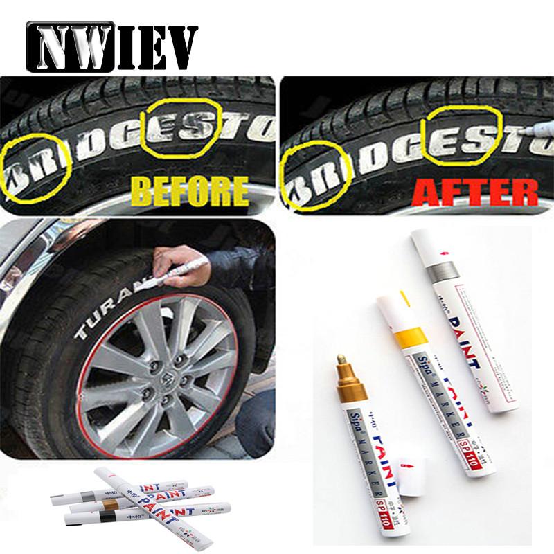 [해외]NWIEV 자동차 타이어 트레드 CD 금속 낙서 마커 펜 Lada Granta Vesta Volvo XC60 S60 XC90 V70 푸조 307 206 207 407 508 406/NWIEV Car Tyre Tread CD Metal Graffiti Marker