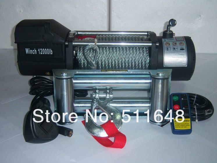 [해외]Jeely 12 v 12000lb/13000lb 전기 윈치, 트럭 윈치, 4wd/4x4 윈치 원격 제어