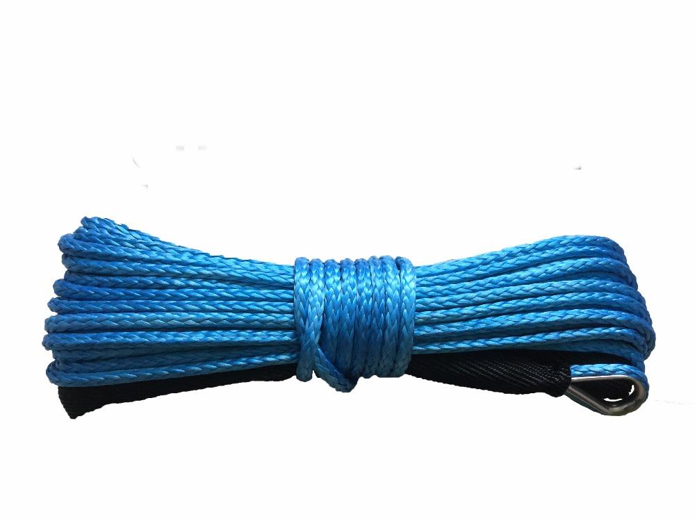 [해외]2017 4mm x 12m 합성 윈 치 선 UHMWPE 섬유 로프 견인 케이블 자동차 액세서리 (4X4 / ATV / UTV / 4WD / OFF-ROAD 용)/2017 4mm x 12m Synthetic Winch Line UHMWPE Fiber Rope To