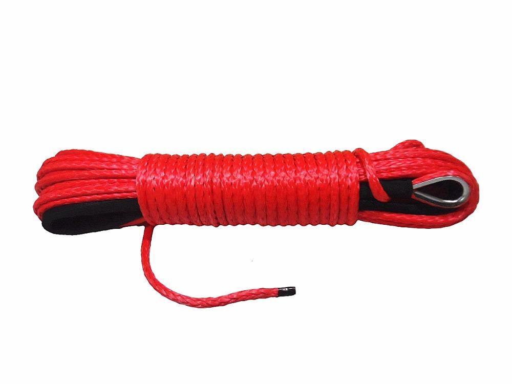 [해외]레드 5MM * 15M ATV 합성 윈치 로프, 3/16 & 밧줄 ATV 윈치 액세서리, 보트 윈치 케이블, ATV 윈치 용 밧줄/Red 5MM*15M ATV Synthetic Winch Rope,3/16& Rope ATV Winch Accessories