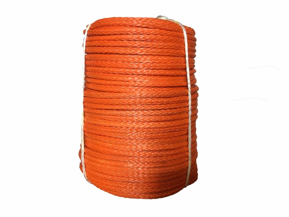 [해외] 14mm x 200m 합성 윈치 로프 케이블 라인 UHMWPE UV 4WD OFFROAD 용 로프 세일링 로프/Free shipping 14mm x 200m synthetic winch rope cable line UHMWPE rope sailing rope
