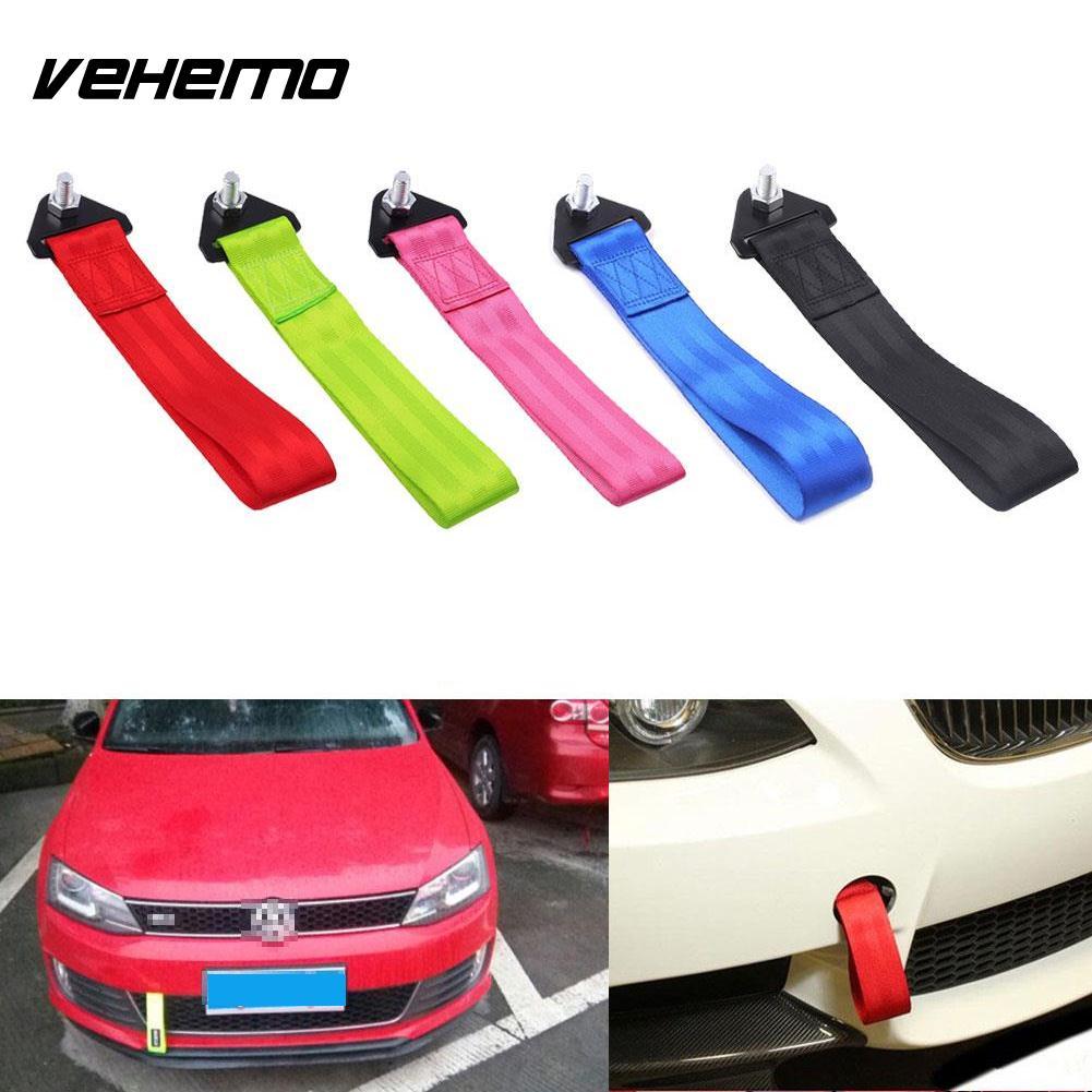[해외]자동차 레이싱 견인 견인 스트랩 고강도 잡아 당김 밧줄 벨트 범퍼 후크 유니버설/Car Racing Tow Towing Strap High Strength Pull Rope Belt Bumper Hook Universal