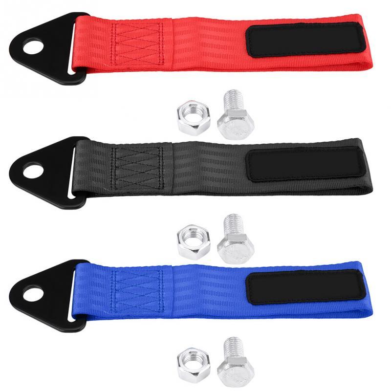 [해외]유니버설 고강도 레이싱 카 타워 스트랩 견인 후크 전면 후방 범퍼 견인 고리 3 색/Universal High Strength Racing Car Tow Strap Tow Rope for Front Rear Bumper Towing Hook 3 Colors