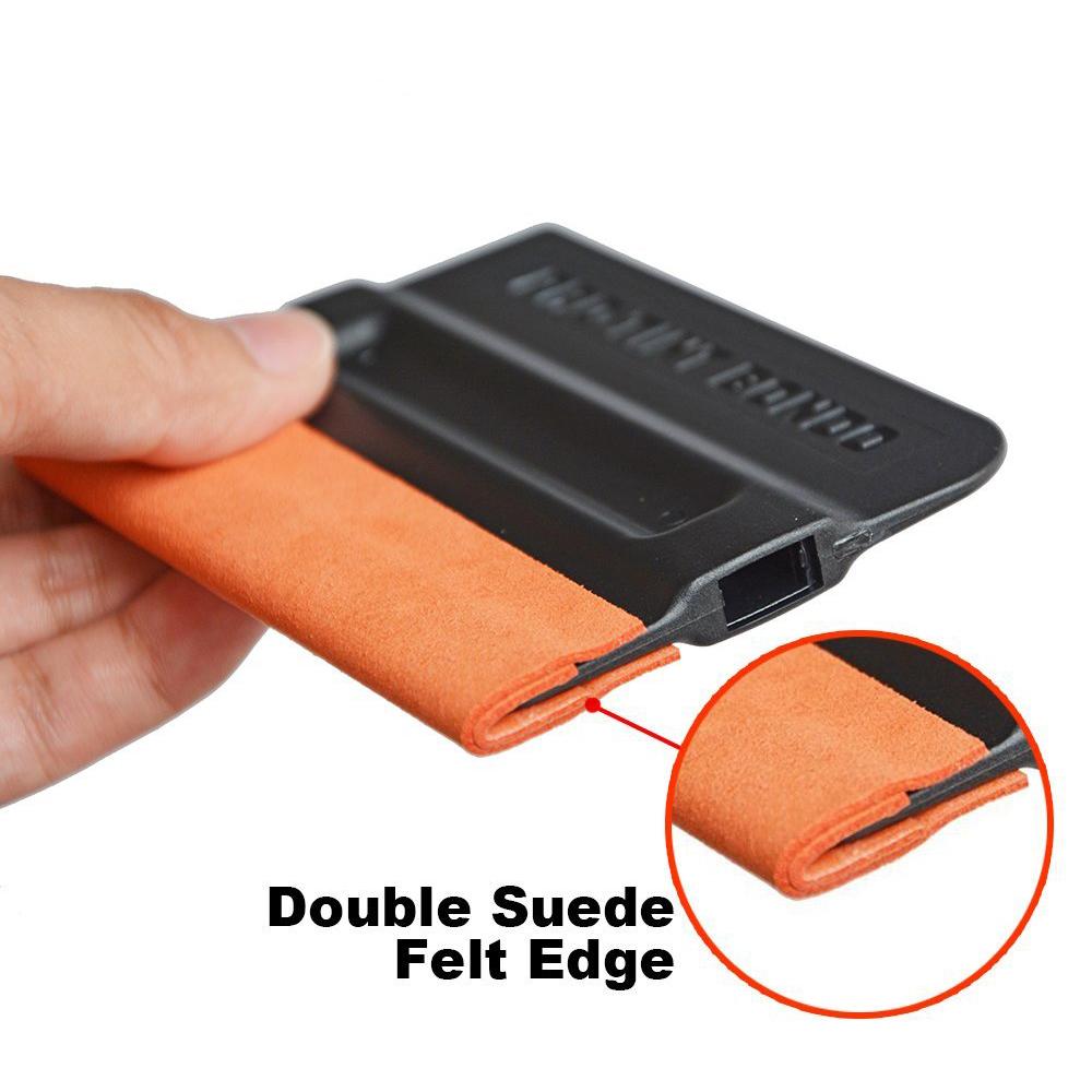 [해외]EHDIS 두 레이어 프로 - 색조 스웨이드 가장자리 스퀴지 창 필름 색조 도구 래핑 된 펠트 스 크레이퍼 스노우 워터 삽 비닐 자동차 랩 A43F2/EHDIS Two Layers Pro-Tint Suede Edge Squeegee Window Film Tint