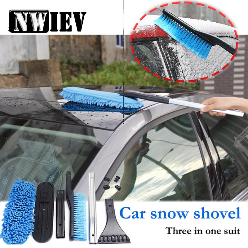 [해외]NWIEV 1Set 3 대 이동식 자동차 다목적 스노우 삽 BMW E90 F30 F10 용 Audi A3 A6 C5 C6 현대 i30 액세서리/NWIEV 1Set Three in one Removable Car Multifunctional Snow Shovel