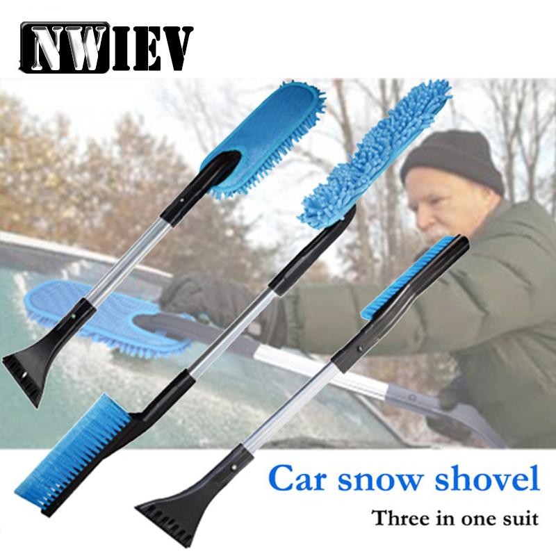 [해외]NWIEV 한 세트의 이동식 자동차 3 대 포드 포커스 2 3 VW Passat B6 B5 B7 B8 기아 리오 액세서리 용 다기능 스노우 셔블/NWIEV 1Set Three in one Removable Car Multifunctional Snow Shovel