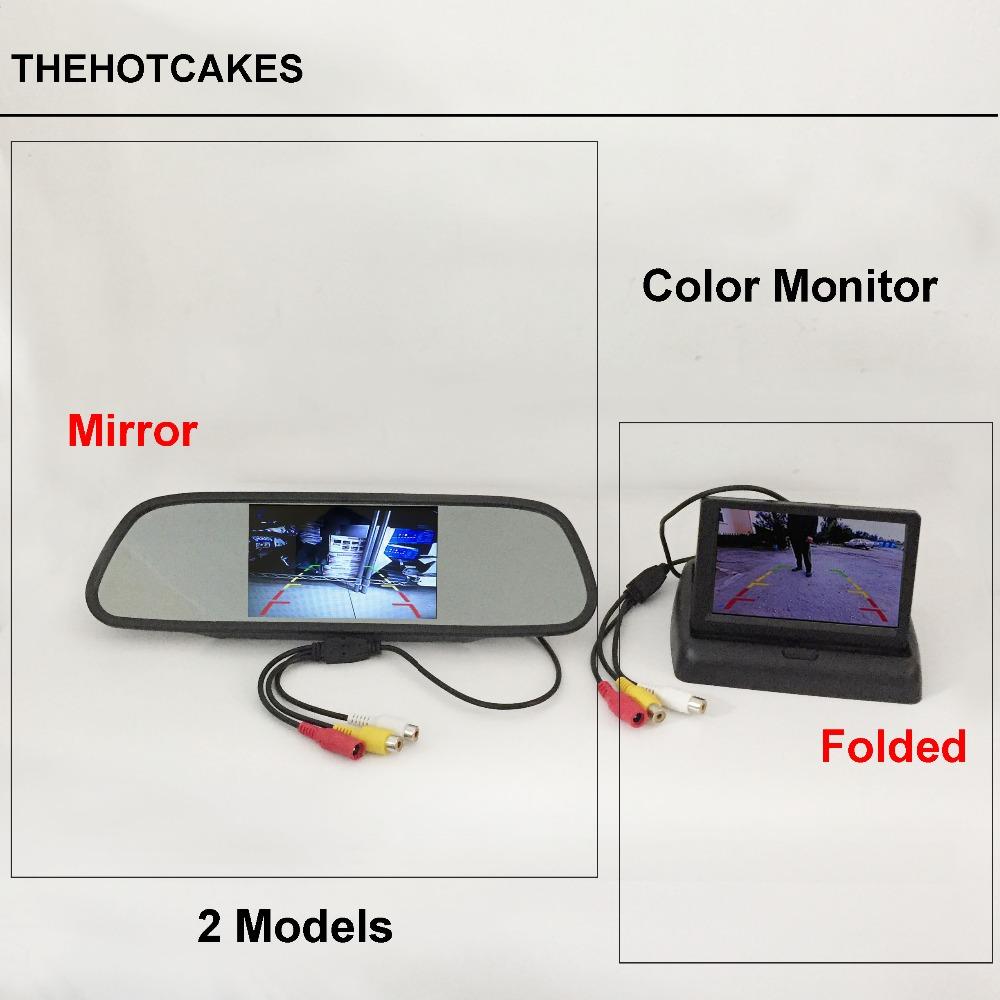 [해외]thehotcakes 자동차 뒷모습 거울 모니터 / 접이식 화면 디스플레이 / LCD 역방향 후면 카메라 용 NTSC PAL 컬러 TV 보안 시스템/thehotcakes Car Rearview Mirror Monitor / Folded Screen Display