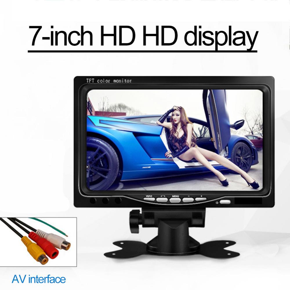 [해외]DC 12V 800 x 480 7 인치 자동차 모니터 밝은 색상의 HDMI 인터페이스 TFT LCD AV VGA 자동 후면보기 모니터/DC 12V 800 x 480 7 inch Car Monitor Bright Color HDMI Interface TFT LCD