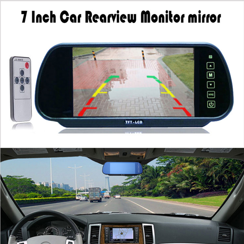 [해외]7 인치 TFT LCD 와이드 스크린 자동차 모니터 터치 버튼 지원 DVD 자동차 백미러 미러 모니터 7 & 후방 리어 뷰 모니터 주차/7 Inch TFT LCD Widescreen Car Monitor Touch Button Support DVD Car