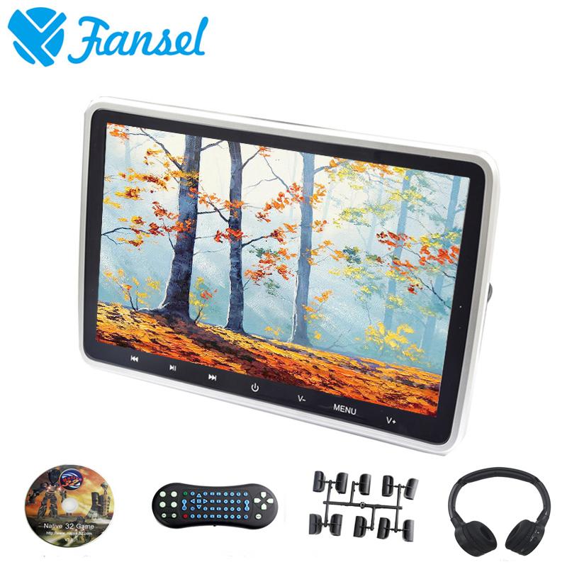 [해외]Fansel 10.1 인치 자동차 머리 받침 모니터 DVD 비디오 플레이어 1024x600 TFT LCD 화면 터치 버튼 USB / SD / HDMI / IR / FM 송신기 / 게임/Fansel 10.1 Inch Car Headrest Monitor DVD V