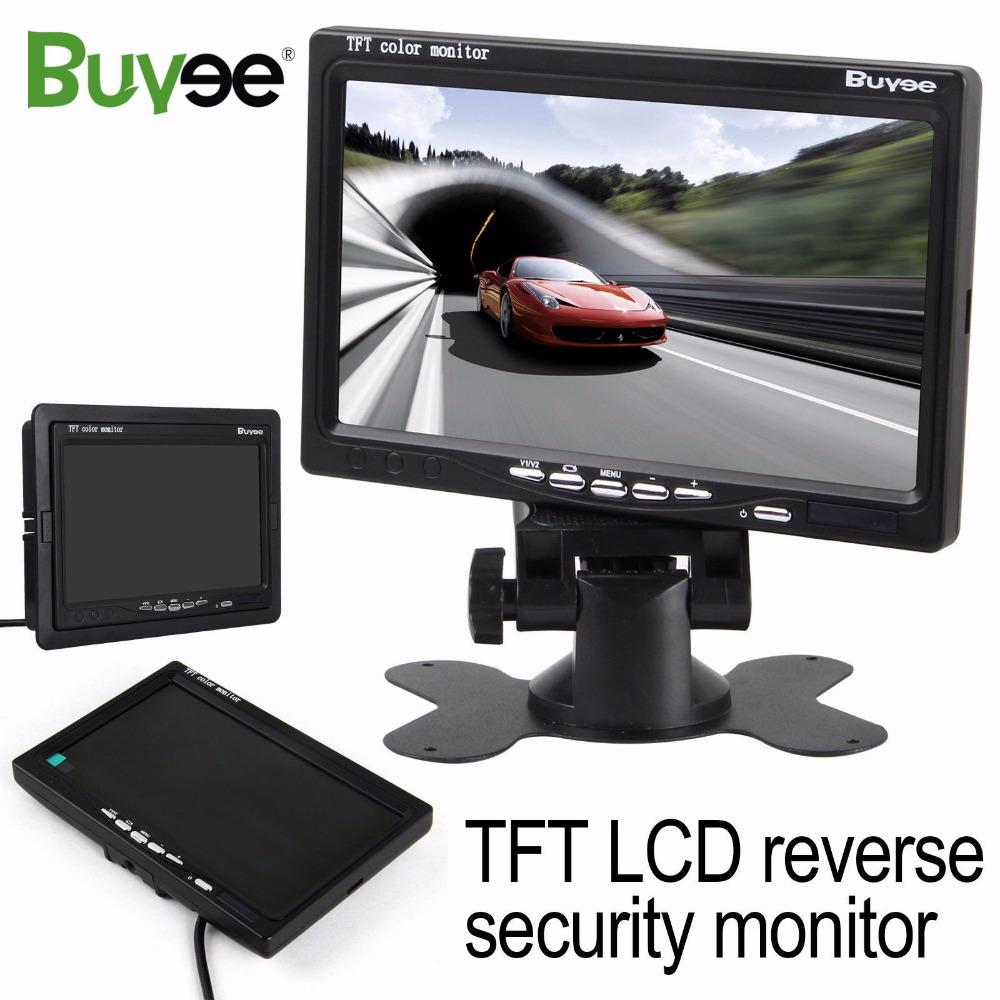 [해외]차량용 주차 모니터 7 인치 TFT LCD 디지털 컬러 스크린 자동차 후면보기 미러 모니터 카메라 후면보기 디스플레이 모니터/Buyee 7 inch TFT LCD Digital Color Screen Car Rear View Mirror Monitor for C