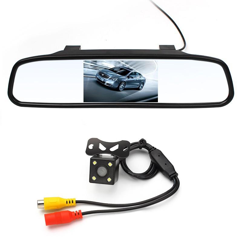 [해외]4.3 인치 자동차 백미러 미러 모니터 후면보기 카메라 CCD 비디오 자동 주차 지원 LED 야간 투시경 자동차 스타일링/4.3 inch Car Rearview Mirror Monitor Rear View Camera CCD Video Auto Parking A