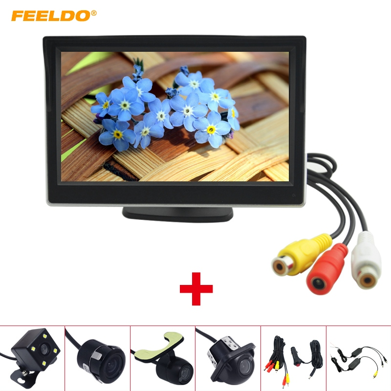 [해외]FEELDO 5 및 LCD TFT 독립형 모니터 후면보기 백업 카메라 RCA 비디오 후면 시스템 2.4G 무선 시가 라이터/FEELDO 5& LCD TFT Stand-alone Monitor Rear View Backup Camera RCA Video Rearv