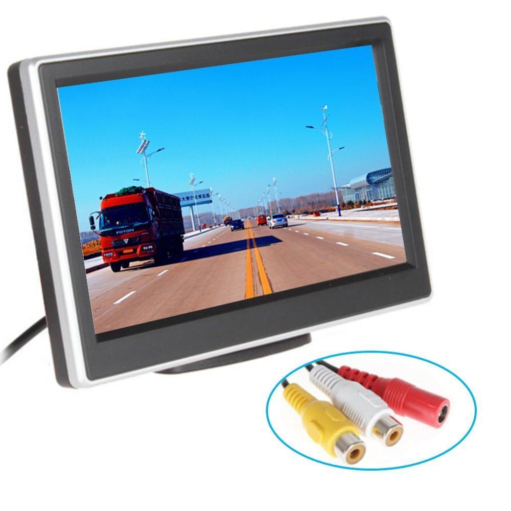 [해외]4.3 && 자동차 자동 후면보기 모니터 안전 주차 복귀 화면 지원 2 비디오 입력 LCD 디스플레이 모니터 자동차 감지기/4.3&& Car auto rear view monitor safety parking revering Screen assis