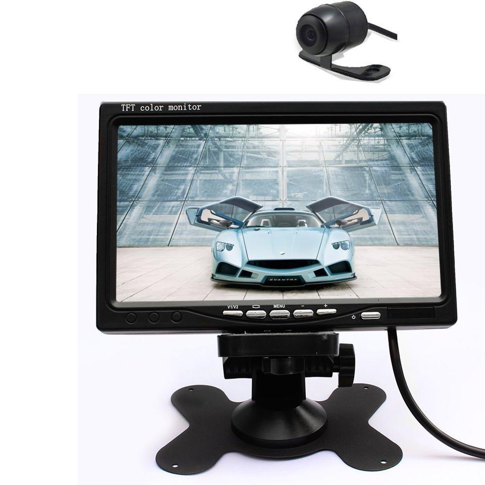 [해외]120-Deg 야간 방수 주차 카메라 + 7 및 자동차 후면보기 카메라 TFT LCD 디지털 컬러 스크린 자동차 모니터에 대 한 후면보기/120-Deg Night Vision Waterproof Rear-view for parking Camera + 7& Car