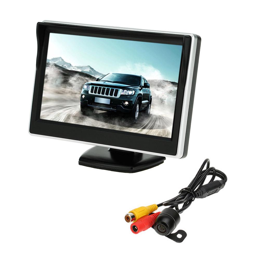 [해외]5 & ??TFT LCD 자동차 모니터 주차 지원 자동차 후면보기 카메라 미러 모니터 백업 역방향 자동 TV 모니터 자동차 DVD 화면/5& TFT LCD Car Monitor Parking Assistance Car rear view cameramirr