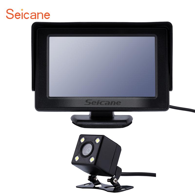 [해외]Seicane 4.3 인치 HD 디지털 모니터 디스플레이 시스템 TFT LCD 백업 후면 뷰 카메라 역방향 주차/Seicane 4.3 Inch HD Digtal Monitor DisplayAssistance System TFT LCD Backup RearView