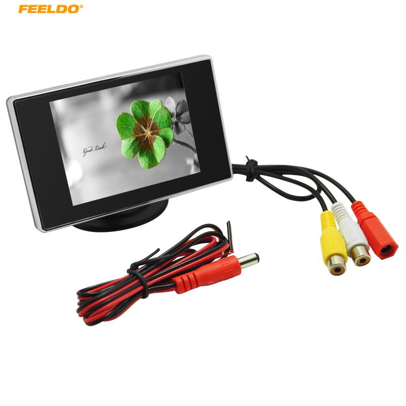 [해외]FEELDO 3.5inch TFT LCD 자동차 후면보기 주차 디스플레이 모니터 DVD VCR VCD 백업 카메라/FEELDO 3.5inch TFT LCD Car Rear View Parking Monitor Display for DVD VCR VCD Backu