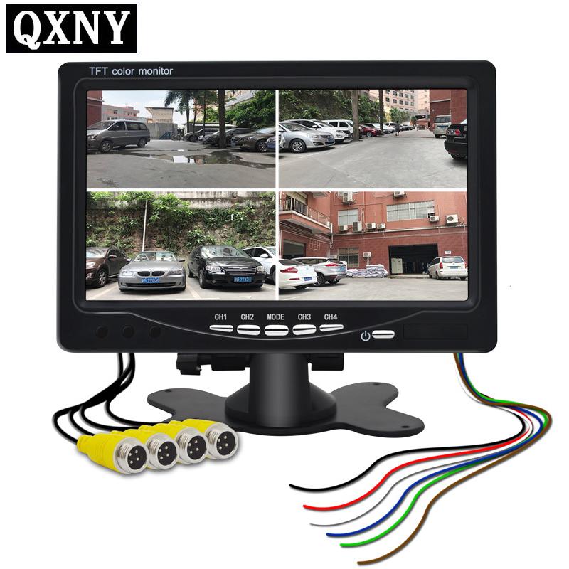 [해외]QXNY 7 & HD 쿼드 뷰 자동차 후면보기 디스플레이 리어 뷰 후면보기 카메라 HD 자동차 카메라/QXNY 7& HD Quad View Car Rear View Display Reverse Color LCD TFT Display for Truck Re