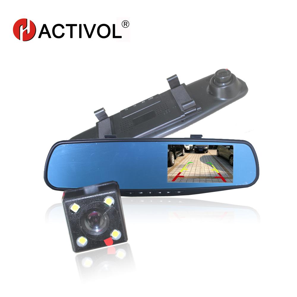 [해외]울트라 씬 차량용 DVR 카메라 백미러 자동 dvrs 듀얼 렌즈 대시 캠 비디오 등록기 캠코더 풀 HD 1080p 야간 투시경/Ultra Thin car DVR camera rearview mirror auto dvrs dual lens dash cam vide