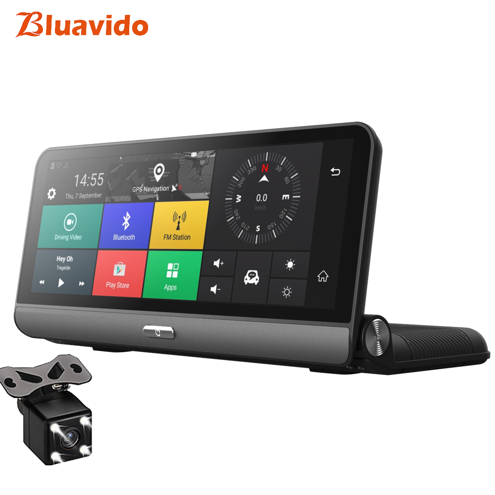 [해외]Bluavido 8 인치 4G 자동차 DVR ADAS? ? ???? ?? GPS 네비게이션 HD 1080P 대쉬 카메라 비디오 레코더 야간 투시경 APP APP 원격 모니터/Bluavido 8 Inch 4G Car DVR ADAS 안드로이드 GPS naivgat