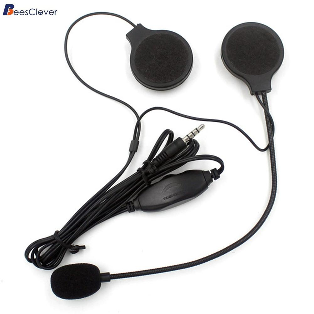 [해외]BEESCLOVER 3.5MM 높은 음질 오토바이 잭 플러그 조절 가능한 마이크 헬멧 헤드폰 스테레오 헤드셋 통화 이어폰/BEESCLOVER 3.5MM High Sound Quality Motorcycle Jack-plug Adjustable Microphone