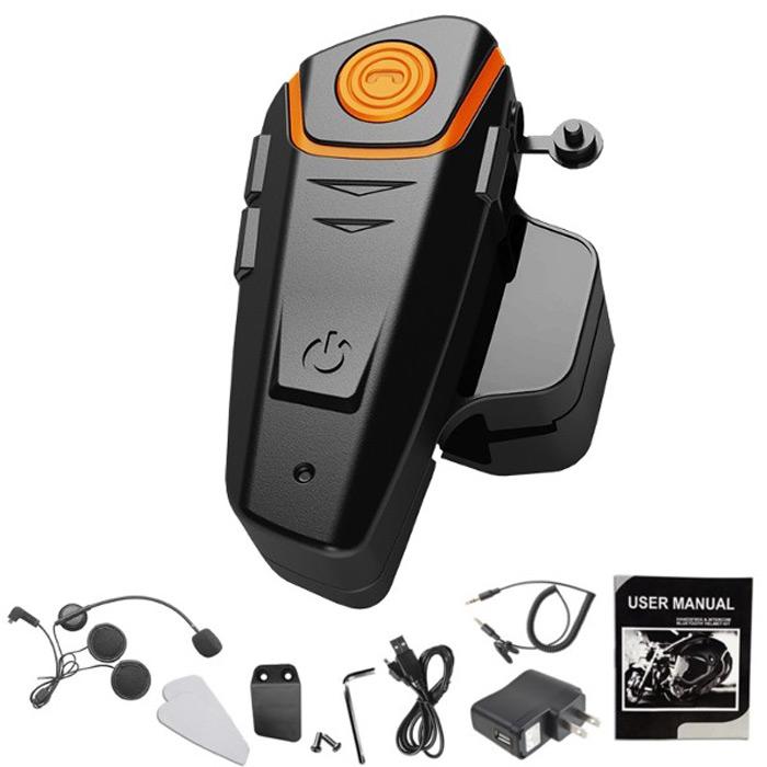 [해외]BT-S2 1000m 블루투스 헤드셋 오토바이 인터콤 정답 유선 무선 헬멧을FM 라디오 인터폰 300 시간 대기/BT-S2 1000m Bluetooth Headset Motorcycle Intercom Answer FM Radio Interphone for Wi