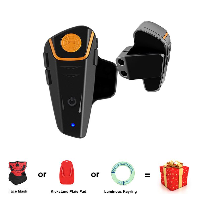 [해외]BT-S2 1000m 블루투스 헤드셋 오토바이 인터콤 방수 자동 응답 FM 라디오 인터폰 300 시간 롱 스탠다드 EU PLUG/BT-S2 1000m Bluetooth Headset Motorcycle Intercom Waterproof Auto Answer F