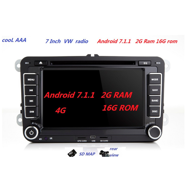 [해외]RNS 510 Radio? ? ???? ?? 7.1.2 VW PASSAT B6 용 Polo Sharan TIGUAN TOURAN CADDY GOLF 5 Mk6 T5 SEAT for Skoda DAB DVD 3G 4G 블루투스/RNS 510 Radio 안드로이드7