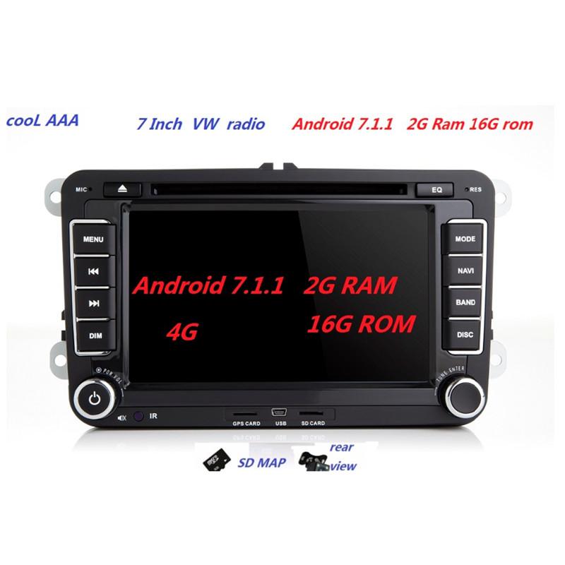 [해외]RNS 510 Radio? ? ???? ?? 7.1.2 VW PASSAT B6 용 Polo Sharan TIGUAN TOURAN CADDY GOLF 5 Mk6 T5 SEAT for Skoda DAB DVD 3G 4G 블루투스/RNS 510 Radio 안드로이드7