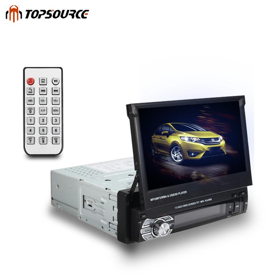 [해외]?자동차 스테레오 오디오 라디오 블루투스 1DIN 7 & HD 개폐식 터치 스크린 모니터 DVD MP5 FM USB 플레이어 후면보기 카메라 DVD 플레이어/ Car Stereo audio Radio Bluetooth 1DIN 7& HD Retractab