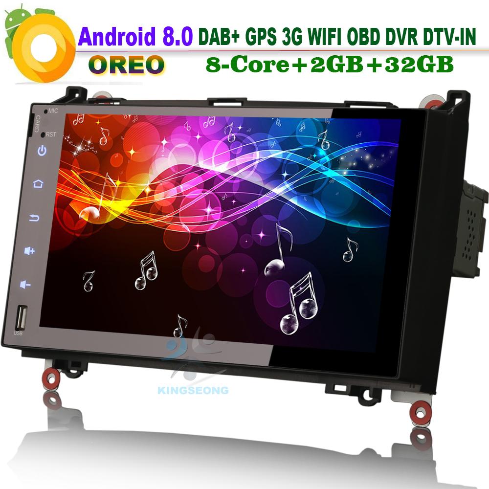 [해외]9 & ? ? ?? 8.0 메르세데스 A 클래스 W169 블루투스 Sat Navi에 대 한 Autoradio DAB + 자동차 스테레오 WiFi 3G GPS DVR SD BT OBD 차량 라디오 플레이어/9& 안드로이드 8.0 Autoradio DAB+
