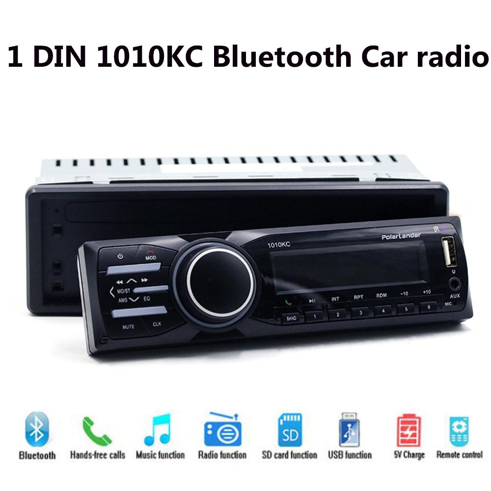 [해외]자동차 라디오 스테레오 대쉬 1010KC 블루투스 음악 오디오 플레이어 분리형 패널 AUX IN MP3 플레이어 1 DIN FM USB TF 카드 SD/Car Radio Stereo In Dash 1010KC Bluetooth Music Audio Player