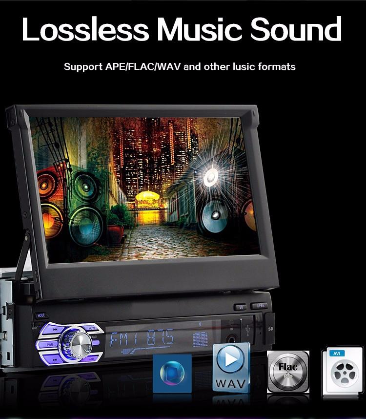 [해외]7 & & 1 딘 터치 스크린 USB / SD / AUX / EQ / FM / TFT 3 언어 핸들 / 해외 창고 해외 창고 자동차 라디오 블루투스/7&& 1 Din Touch Screen USB/SD/AUX/EQ/FM/TFT 3 languages