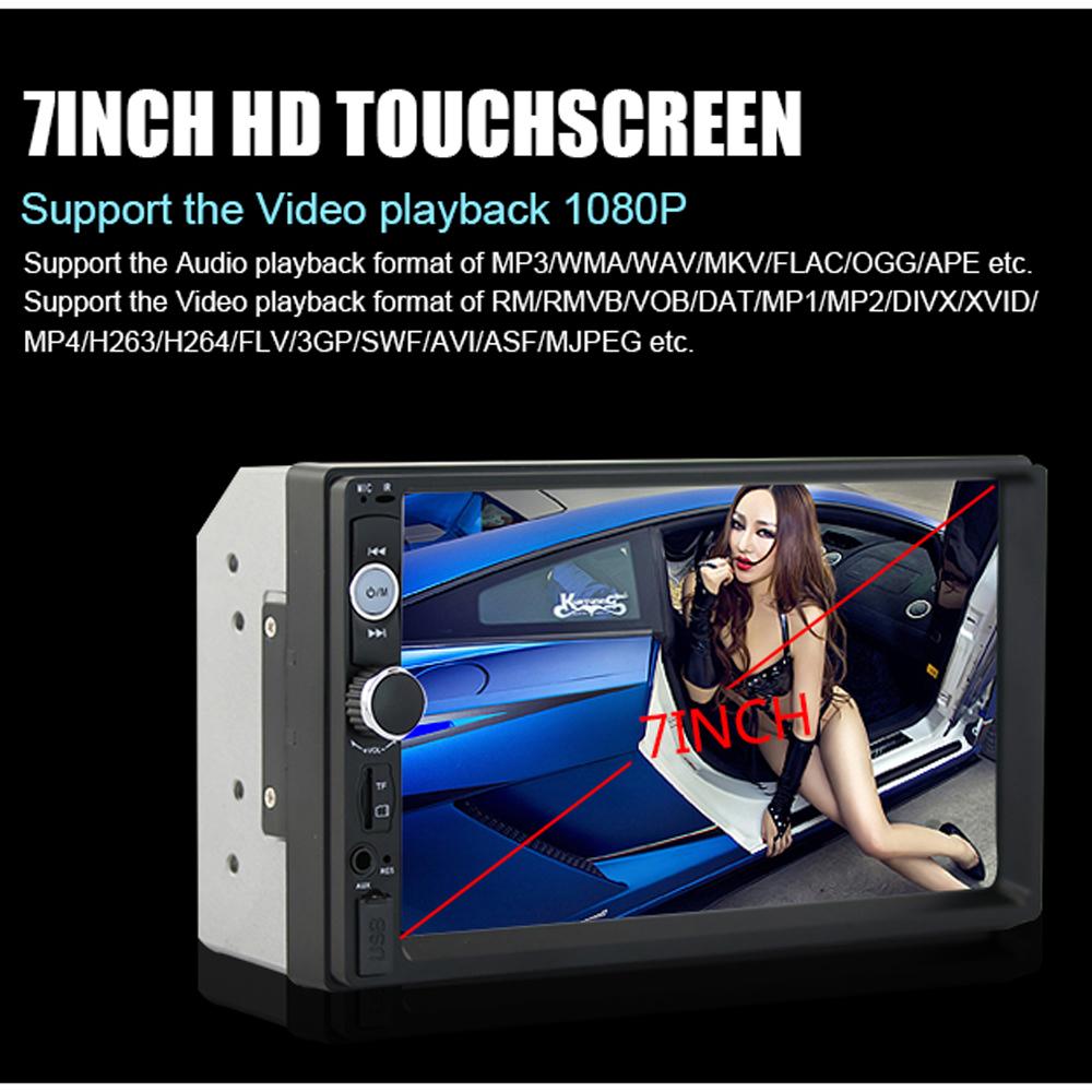 [해외]2 개의 자동차 라디오 7 & HD 플레이어 MP5 터치 스크린 디지털 디스플레이 블루투스 멀티미디어 USB 2din Autoradio 자동차 백업 모니터/2 din car radio 7& HD Player MP5 Touch Screen Digital D