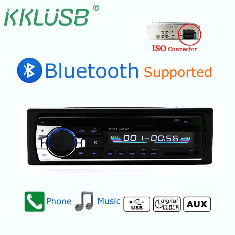 [해외]JSD - 520 블루투스 V2.0 Autoradio 스테레오 자동차 라디오 1 Din 12v FM 보조 입력 수신기 자동차 오디오 SD USB MP3 MMC WMA 자동차 오디오 jsd 520/JSD-520 Bluetooth V2.0 Autoradio Ster