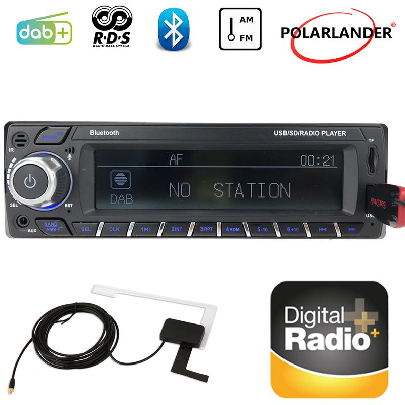 [해외]자동차 블루투스 카드 기계 디지털 오디오 방송 1 딘 자동차 라디오 FM USB SD MP3 / WMA RDS DAB + LCD 화면 2018 New Hands-Free/Car Bluetooth Card Machine Digital Audio Broadcast
