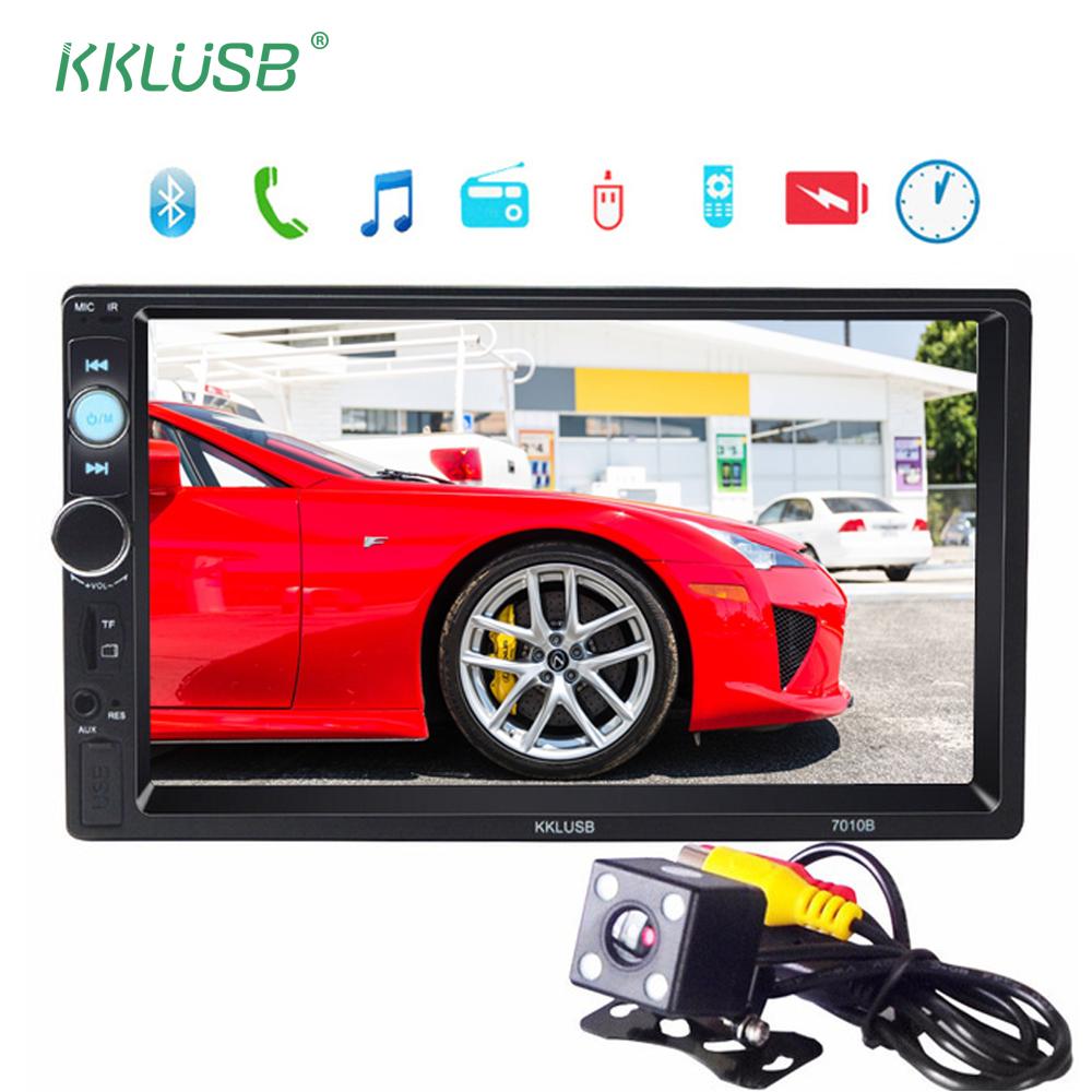 [해외]자동차 오디오 autoradio 2 딘 7 인치 LCD 터치 스크린 블루투스 2Din 12v 자동 자동차 오디오 플레이어 스테레오 MP5 지원 후면보기 카메라/Car audio autoradio 2 Din 7 inch LCD Touch screen bluetoo