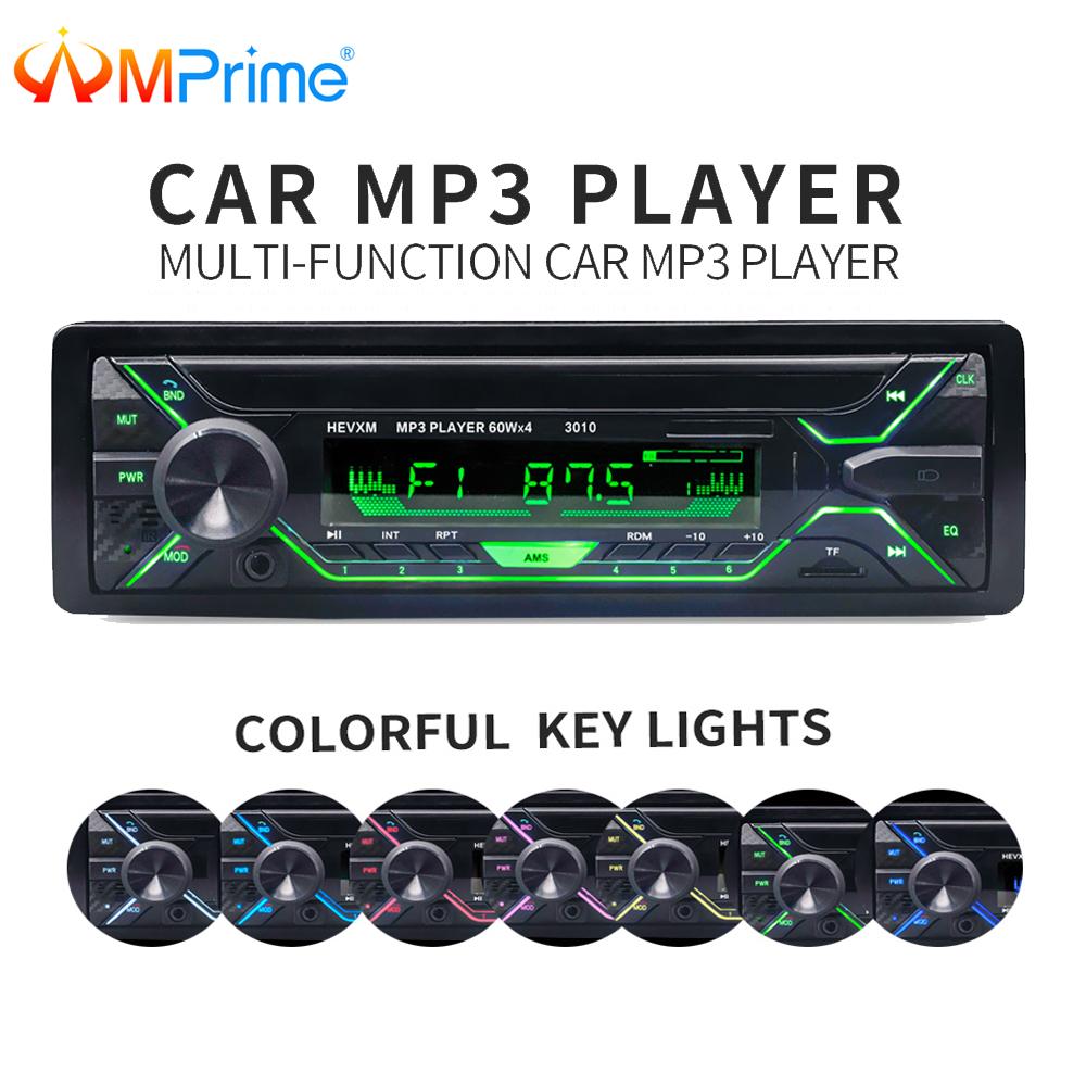 [해외]AMPrime 자동차 자동 라디오 1 din 12V Bluetooth 스테레오 오디오 MP3 플레이어 FM 라디오 수신기 지원 Aux 입력 SD USB MMC 원격 제어/AMPrime Car Auto Radio 1 din 12V Bluetooth Stereo A