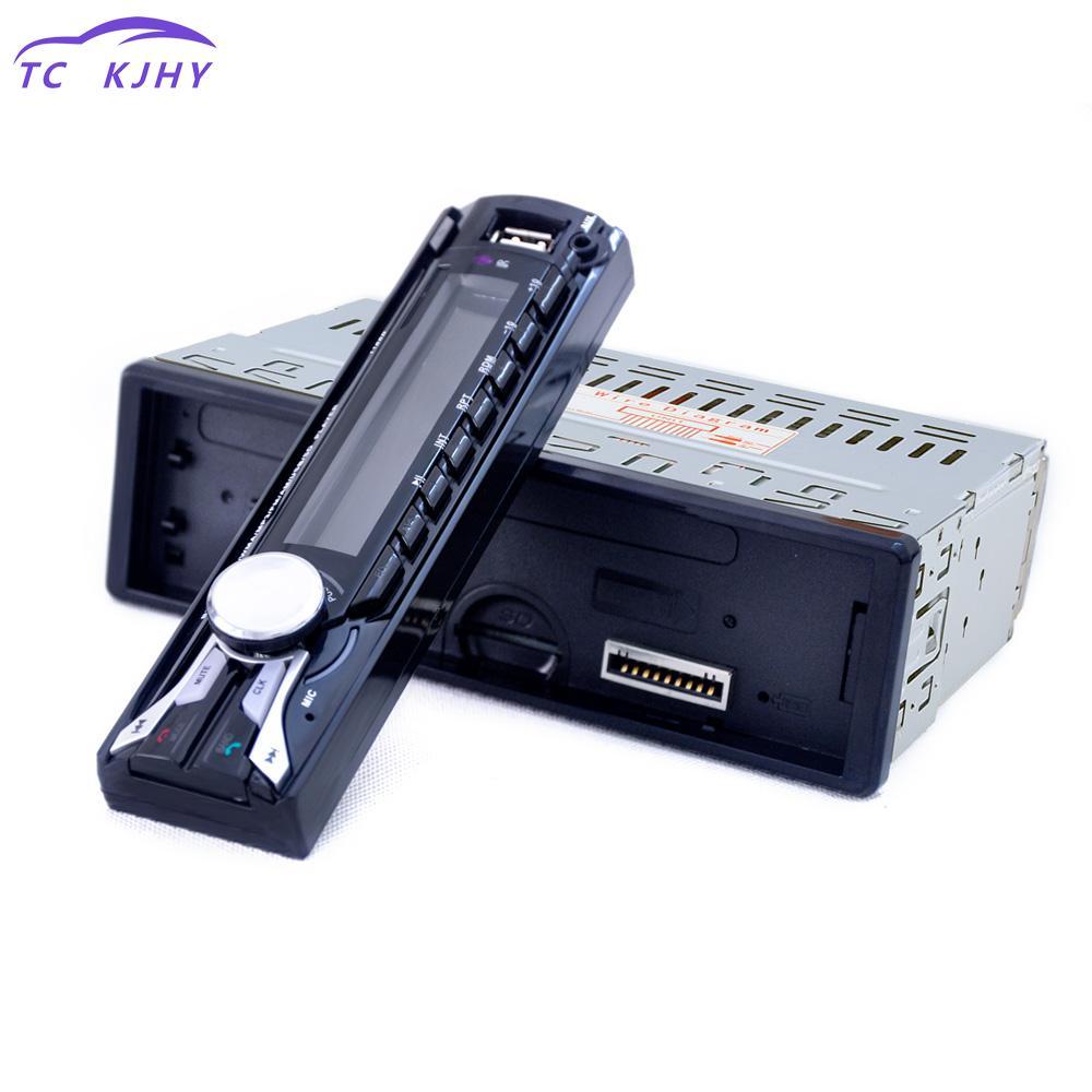 [해외]핸즈프리 라디오 튜너 원격 제어 FM 자동차 라디오 블루투스 분리형 전면 패널 자동 오디오 스테레오 자동차 MP3 플레이어 Aux USB/Handsfree Radios Tuner Remote Control Fm Car Radio Bluetooth Detachab