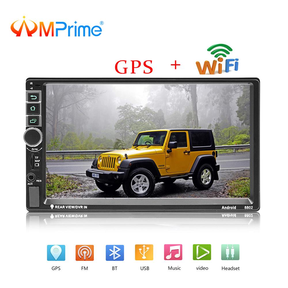 [해외]AMPrime? ? ???? ?? 자동차 라디오 7 & 2 DIN 자동차 멀티미디어 플레이어 블루투스 GPS FM BT Autoradio HD 터치 스크린 MP5 지원 백업 카메라/AMPrime 안드로이드 Car Radio 7& 2 DIN Car Mult