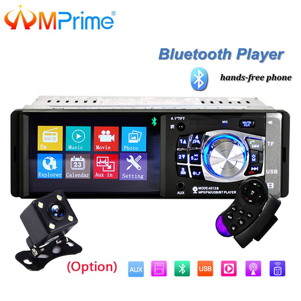 [해외]AMPrime 1 차 자동차 라디오 4 & HD MP5 멀티미디어 USB AUX FM 라디오 자동 라디오 블루투스 원격 제어 플레이어보기 카메라/AMPrime 1 din Car Radio 4& HD MP5 Multimedia USB AUX FM Radio