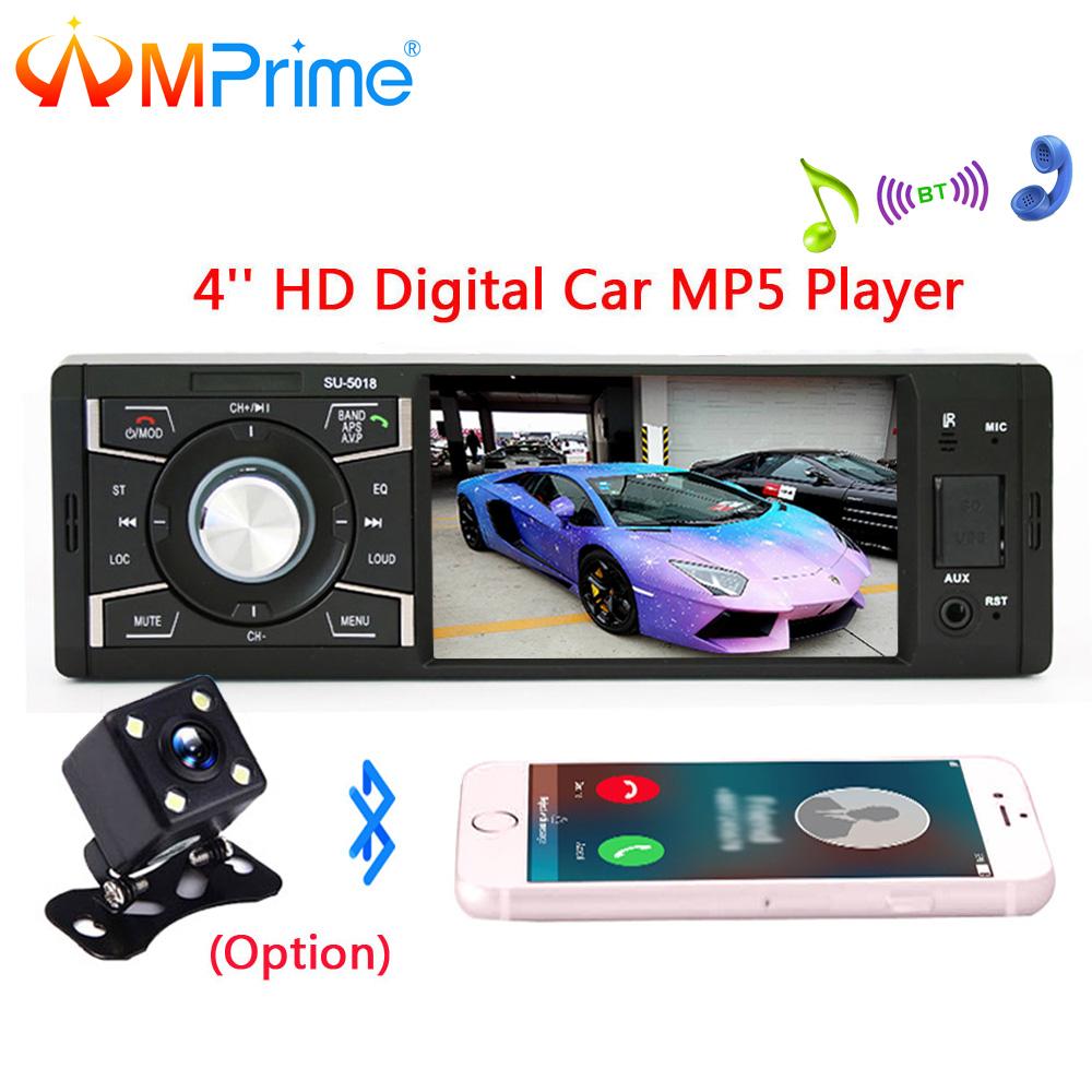 [해외]AMPrime 1 Din MP3 플레이어 차량용 라디오 오디오 스테레오 SD USB AUX FM 라디오 방송국 Bluetooth MultimediaRear 카메라 리모컨/AMPrime 1 Din MP3 Player Car Radio Audio Stereo SD
