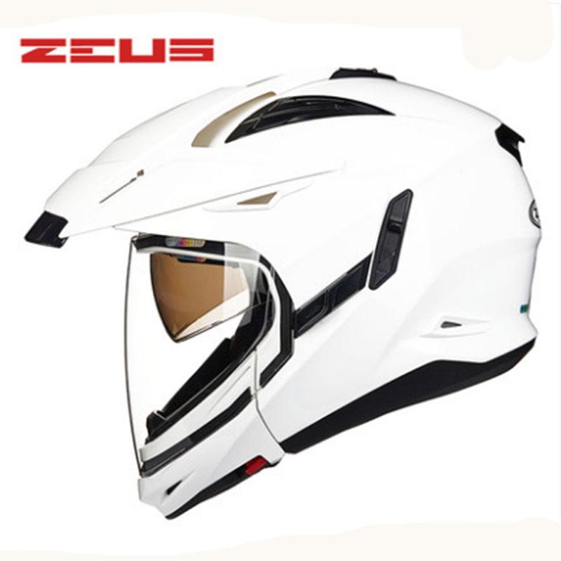 <span style=''>[해외]ZEUS 새로운 모듈 형 오토바이 헬멧 2 렌즈 고급 보호 기어 오토바이 헬멧 61..</span>