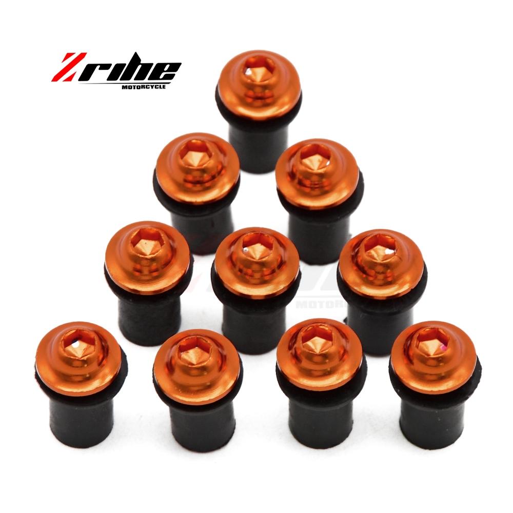 [해외]10x CNC 오토바이 액세서리 나사 바람막이 볼트 나사 KTM 125/200/390 용 DUKE RC125 / 200 / 390 640 LC4/10x CNC motorcycle Accessories screw  Windscreen Bolt  screw For